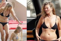 Kate Moss kızı ve sevgilisiyle tatilde