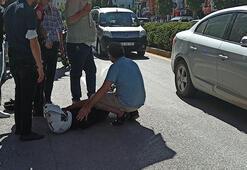 Kaza yapan Yunus polisini, şemsiyeyle güneşten korudu