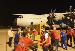 Türkiyeden Lübnana yardım eli Uçak Beyruta ulaştı