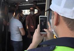 Esenyurtta yine aynı manzara 36 yolcu taşıyan minibüsçüye ceza