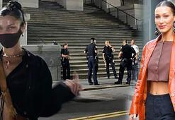 Bella Hadidden polislere şoke eden hareket
