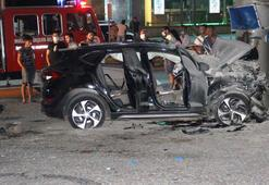 2 gencin öldüğü kaza güvenlik kamerasına böyle yansıdı