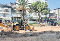 Büyükşehir, Zafer Meydanı'nı yeniliyor
