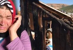 Evleri yanan aile gözyaşlarına boğuldu