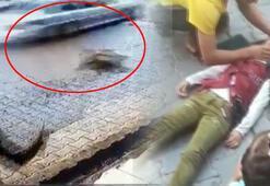Polisten kaçtı, 11 yaşındaki Esmaya çarptı Korkunç an kamerada