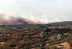 Sınırda korkutan yangın Ekipler olay yerinde