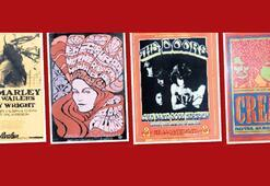 Erken dönem rock konseri afişleri açık artırmada