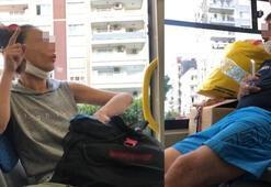 Otobüste maske takmayanlara yolculardan tepki