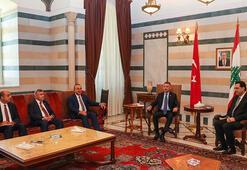 Cumhurbaşkanı Yardımcısı Oktay ve Dışişleri Bakanı Çavuşoğlu Lübnanda