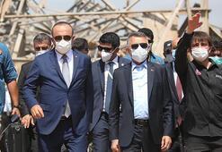 Cumhurbaşkanı Yardımcısı Oktay ve Bakan Çavuşoğlu Lübnanlılara hitap etti: Türkiye olarak yanınızdayız