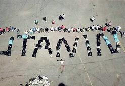 Bayramcıların çöplerini adalılar topladı