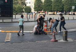 Taksim Meydanında hasta numarasıyla duygu sömürüsü kamerada