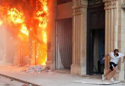 Son dakika... Lübnan alev aldı Şok fotoğraflar...