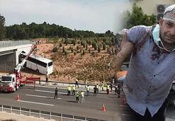 Son dakika... İstanbulda facia Kazada yolcular dışarı fırladı...