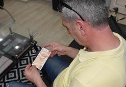 ATMden çektiği 50 lira baskı hatalı çıktı