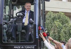 Cumhurbaşkanı Erdoğan 7 ton kapasiteli ekskalatörü inceledi