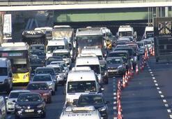 Haliç Köprüsünde trafik yoğunluğu yaşanıyor