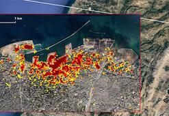 NASA bu fotoğrafları paylaştı Lübnanda dehşetin resmi...