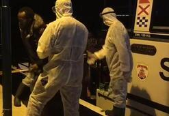 Balıkesirde Türk kara sularına itilen 31 sığınmacı kurtarıldı