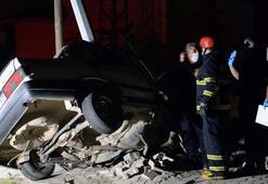 Tokatta ikiye bölünen otomobilin sürücüsü öldü