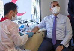 Adalet Bakanı Abdulhamit Gülden kan bağış kampanyasına destek