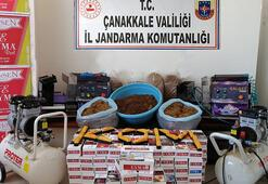 Çanakkale Bigada kaçak tütün operasyonu