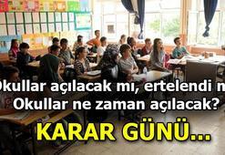 Okullar açılacak mı, ertelendi mi Karar bekleniyor: Okullar ne zaman açılacak, yüz yüze eğitim verilecek mi