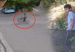 Bisikletli çocuğun üzerine ağaç devrildi