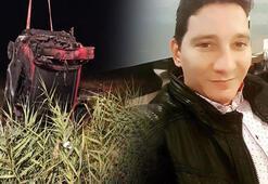 Tarlaya uçan otomobil alev aldı, sürücü öldü