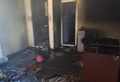 Adıyamanda elektrik kontağı yangına neden oldu