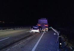 Kayseride feci kaza 2 ölü, 1 yaralı