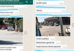 Polis kontrolünden kaçmak için whatsapp grubu kurdular