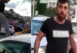 Trafikte tartıştığı kadın sürücüye küfrederek böyle saldırdı