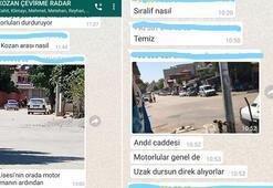 Motosikletliler polis kontrolünden kaçmak için WhatsApp grubu kurdular