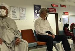Şapka ve gözlük taktı hastaneye geldi Kimse tanımadı