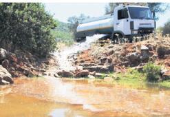 Kuruyan göletlere 80 ton su takviyesi