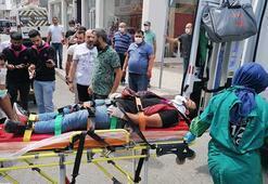 Kocaelide otomobil ile çarpışan motosikletli yaralandı