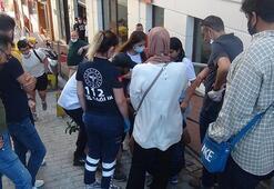 Taksim'de turist kafilesindeki kıza araba çarptı