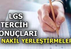 LGS yerleştirmeye esas 1. nakil sonuçları : meb.gov.tr