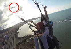 Havada ilginç anlar Polis helikopterinden anons yapıldı...