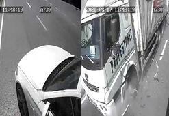 Arnavutköy'de makas kazası kamerada