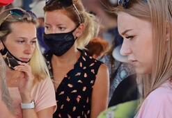 Antalyada kapalı pazarda şok manzara