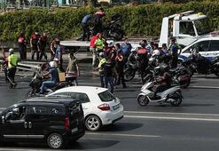 Bağcılar TEMde kaza yapan yunus polisleri ağır yaralandı