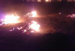 Meteor düştü iddiası Çok büyük alanda yangın çıktı