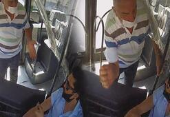 Otobüsteki maske kavgası kamerada