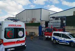 Kocaeli'de ambalaj fabrikasında yangın