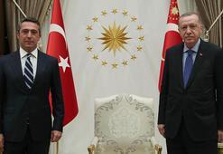 Cumhurbaşkanı Erdoğan, Fenerbahçe Başkanı Ali Koçu kabul etti