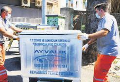 650 konteyner, kent sokaklarına çıktı