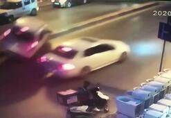 Otomobile çarpmamak için karşı şeride uçtu, karşı yönden gelen araca çarptı