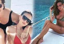 Emina Jahovic annesiyle tatilde